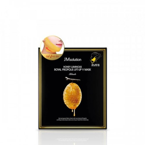 jmsolution-honey-luminous-royal-propolis-lift-up-v-mask-25-g