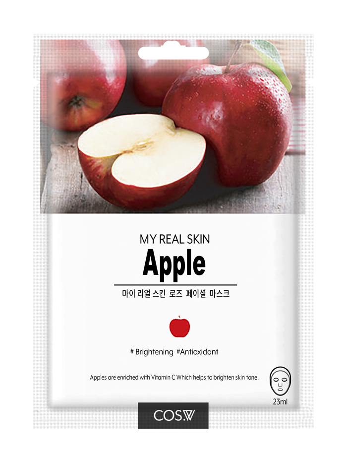 COS. W My Real Skin Apple Facial Mask