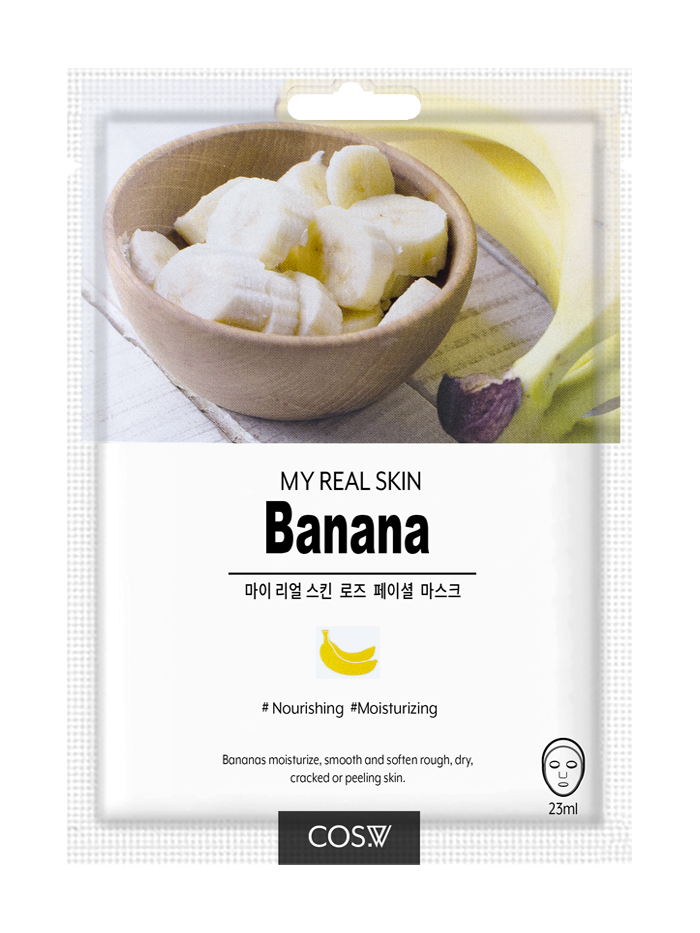 COS. W My Real Skin Banana Facial Mask