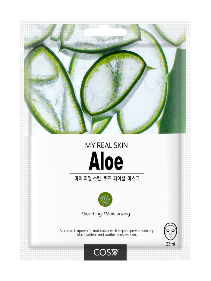 COS. W My Real Skin Aloe Facial Mask