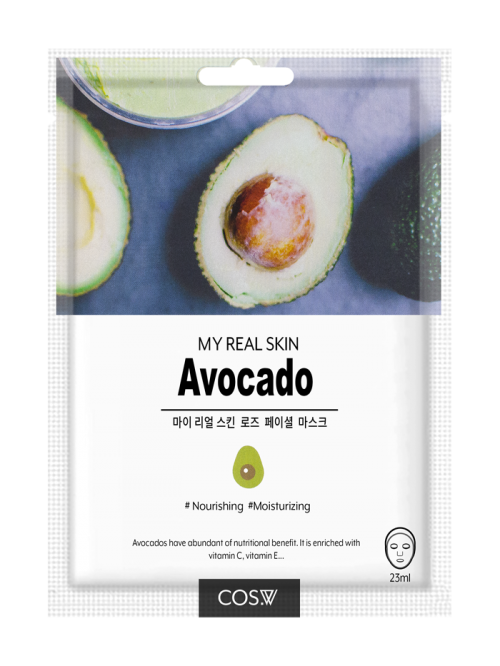 cos-w-my-real-skin-avocado-facial-mask