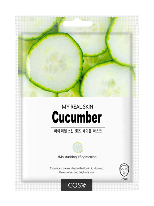 cos-w-my-real-skin-cucumber-facial-mask