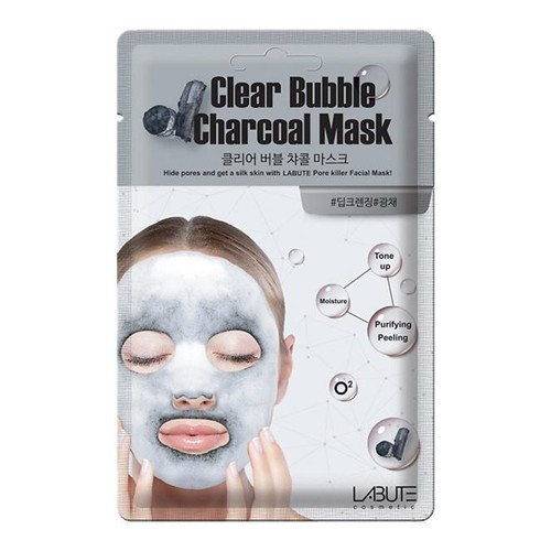 maska-tkanevaya-kislorodnaya-labute-clear-bubble-charcoal-mask