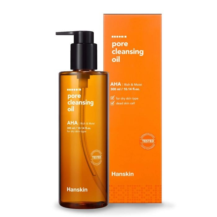Hanskin Pore Cleansing Oil AHA for dry skin 300ml