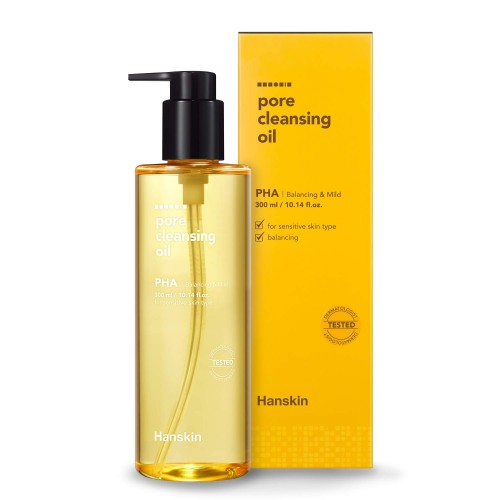 hanskin-pore-cleansing-oil-pha-for-sensitive-skin-300ml