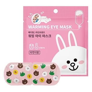 mediheal-line-friends-warming-eye-mask-lavender