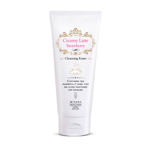 missha-creamy-latte-strawberry-cleansing-foam-172ml