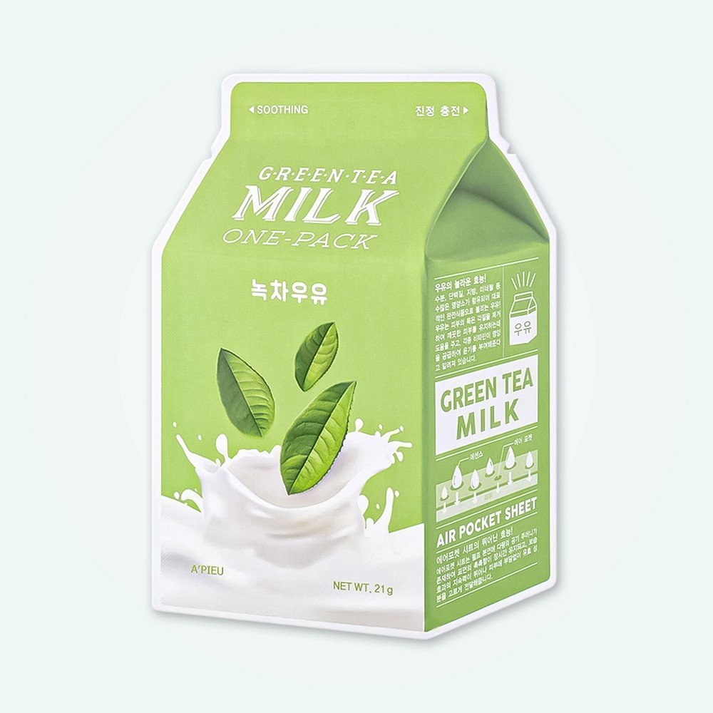 A'Pieu Green Tea Milk One-Pack (Soothing)