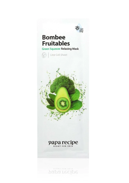papa-recipe-bombee-fruitables-green-squeeze-relaxing-mask-25g
