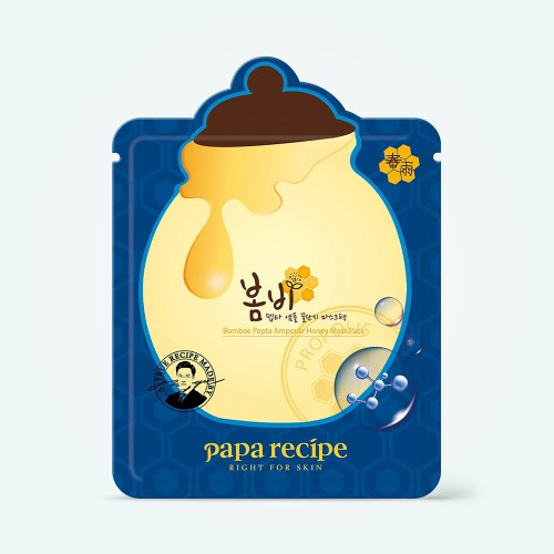 papa-recipe-bombee-pepta-ampoule-honey-mask-25g