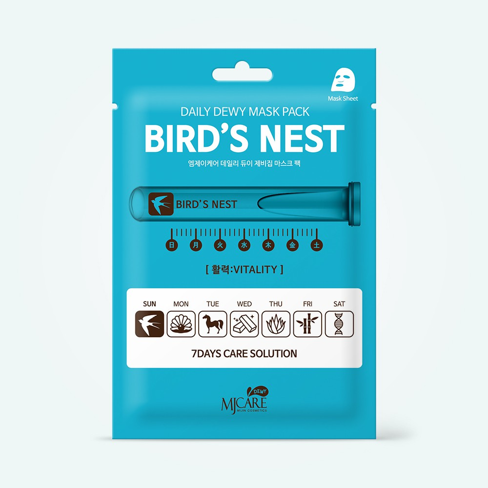 MJ Care Daily Dewy Mask Pack Bird's Nest