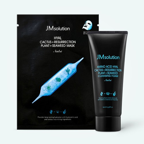jmsolution-hyal-cactus-resurrection-plant-seaweed-mask-and-cleansing-foam-special-set-100-ml-11-x-30-g